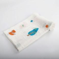 Lembut Anak Handuk Selimut Double Layer Cotton Gauze Bayi Bath Handuk Selimut Pelempar Di Sofa Bed Spring Summer 120*120 Cm-Intl