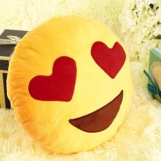 Diskon Lembut Emoji Smile Emoticon Cantik Bantal Bulat Model Bantal Boneka Mainan Intl