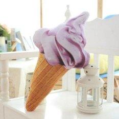 Lembut Es Krim Mewah Bantal Bantal Dekoratif Mainan Bantal Tahan Lama Sofa dan Kursi Belakang Bantalan Stuffed Bolster Bantal Hadiah Tinggi 25 Cm (Krem) -Internasional