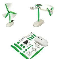 Promosi Khusus 6 In 1 Solar DIY Kit Pendidikan Toy Boat Fan Mobil Robot Windmill Puppy--Intl