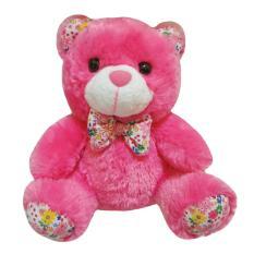 Spicegift Boneka Teddy Bear (Beruang) Pita Bunga Pink Tua