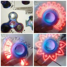 Spesifikasi Spinner Led Motif Tulis Gambar Merk Fidget Spinner