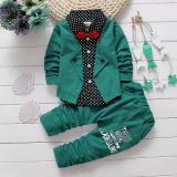 Harga Musim Semi Autumn Bayi Anak Laki Laki Pakaian Set Pakaian Anak Palsu Dua Potong Kemeja Cocok Fancy Anak Gelentment Pakaian Set Hijau Intl Merk Oem