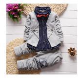 Spesifikasi Musim Semi Autumn Bayi Anak Laki Laki Pakaian Set Pakaian Anak Palsu Dua Potong Shirts Cocok Fancy Anak Gelentment Pakaian Set Merah Intl Dan Harga