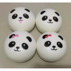 Squishy Bakpao Panda Bun Putih Ukuran 13cm Jumbo - Warna Putih SLow