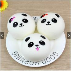 Squishy dengan Bahan Silikon PU dan Bentuk Panda untuk Pereda Stress ukuran S