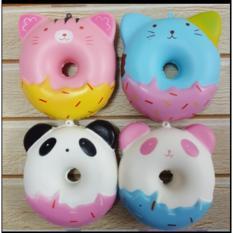 Squishy Murah Jumbo Panda and Kitty Donut