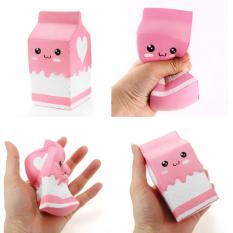 Rp 69.990. Squishy Pink Milk Box Bottle 12cm Slow Rising Collection Gift ...