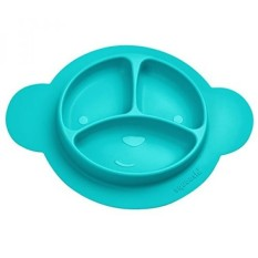 Squooshi Silicone Divided Plates - 3 Colors - Easy to Clean - Dishwasher and Microwave Safe - Soft and Unbreakable - FDA Certified Silicone - Great for Baby or Older Kids. - intl