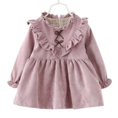 SS Baby Girl V-Style Wave-Selvedge Dress Fashionable Kids Clothes Party  Christmas Dress 8f63c82dae