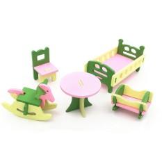 SS Kreatif Simulasi Kayu Furniture 3D Assembly Puzzle Set Bahan Kayu: Toilet-Internasional