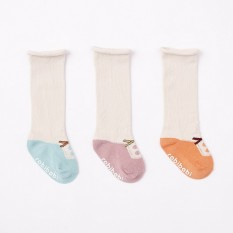 Star Mall 3 Pairs Soft Cotton Baby Kids Stockings Cute Cartoon Animal over Calf Knee High Socks Specification M (2-4 years old non-slip end) female bowknot - intl