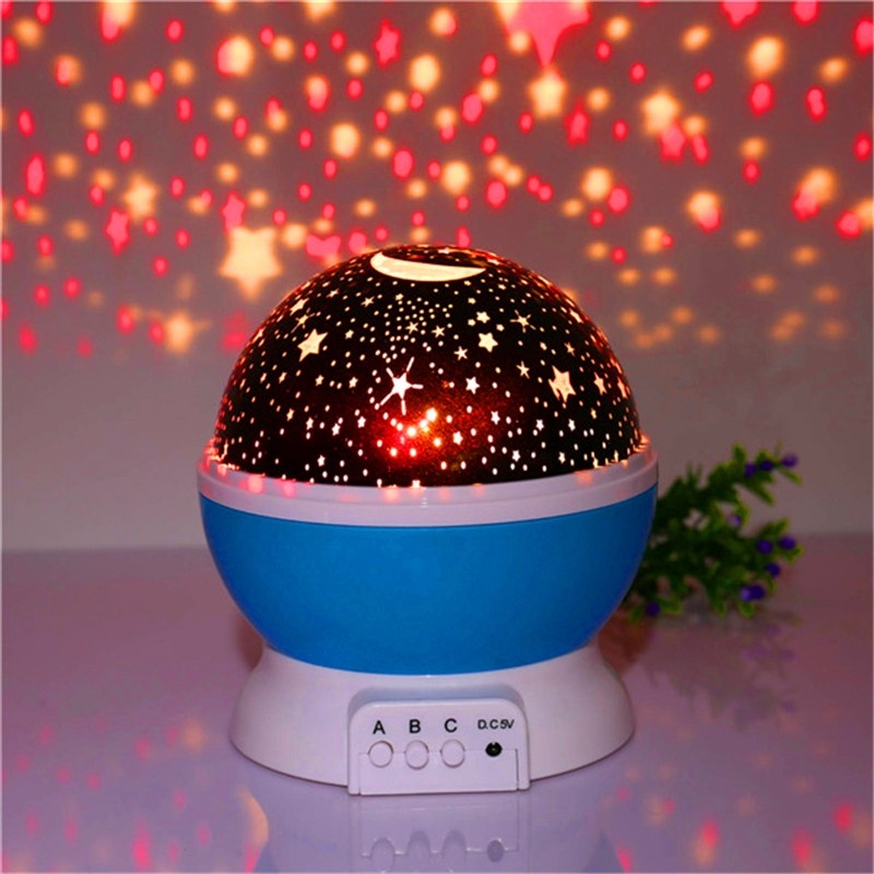 Bintang Starry Sky LED Night Light Proyektor Luminaria Moon Novelty Meja Lampu Malam Baterai USB Night Light untuk Anak-anak- INTL
