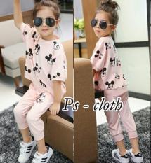 Stelan Mickid Pink [Baju Anak 0117] RB7