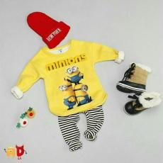 Stelan Minion Yellow [Baju Anak 0147] QHK