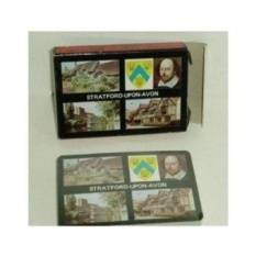 Stratford Upon Avon Plastik Dilapisi Souvenir Playing Cards- Shakespeare-Intl