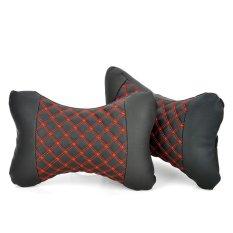 Bergaya Kendaraan Car Seat Kepala Leher Bantal Cushion Bantal-Merah + Hitam (Bandung)-International