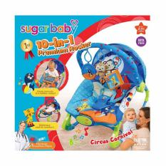 Sugar Baby 10 In 1 Premium Bouncer Rocker Circus Carnival Sugar Baby Diskon 30