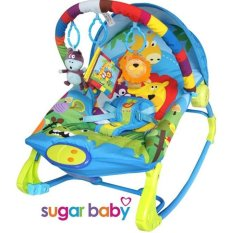 Sugar Baby 10 In 1 Premium Bouncer Rocker Rainbow Forest Sugar Baby Diskon 40