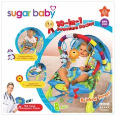 Sugar Baby 10 In 1 Premium Bouncer Rocker Rainbow Forest Multicolour Indonesia