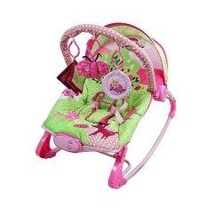 Sugar Baby 10 in 1 Premium Rocker Bouncer - Little Owl Pink - Ayunan Bayi - kursi goyang bayi sugarbaby
