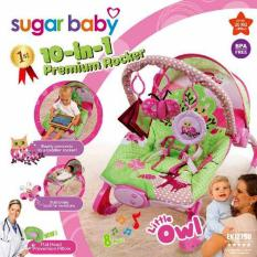 Harga Hemat Sugar Baby 1St Class Premium Rocker 10 In 1 With Melodies And Soothing Vibrations Kursi Lipat Bayi Little Owl