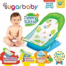 Sugar Baby Bather Green Timmy Turtle - Alat Bantu Kursi Mandi Bayi Hijau