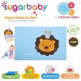 Jual Sugar Baby Blue Lion Organic Healthy Cot Sheet Perlak Bayi Organik 90 X 60 Cm Sugar Baby Asli