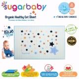 Beli Sugar Baby Blue Star Organic Healthy Cot Sheet Perlak Bayi Organik 90 X 60 Cm Pakai Kartu Kredit