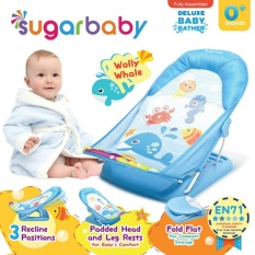 Jual Beli Online Sugar Baby Btr0004 Wolly Whale Deluxe Baby Bather Bangku Mandi Bayi Biru