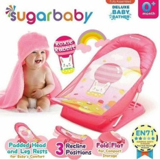 Sugar Baby Btr0006 Roxie Rabbit Deluxe Baby Bather - Bangku Mandi Bayi (Pink)