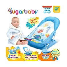 Sugar Baby Deluxe Baby Bather New Motif Blue By Happybearbabyshop.