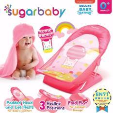 Sugar Baby Deluxe Baby Bather Roxie Rabbit  Kursi Mandi Bayi BTR0006 - Pink