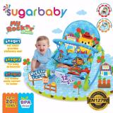 Review Sugar Baby Mrk30001 Little Farm Rocker 3 Stages Baby Bouncer Ayunan Bayi Biru Terbaru