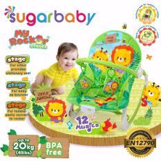 Toko Sugar Baby Mrk30002 Little Jungle Rocker 3 Stages Baby Bouncer Ayunan Bayi Hijau Lengkap