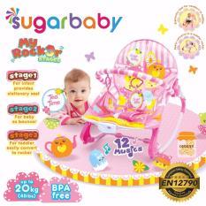 Katalog Sugar Baby Mrk30003 Tea Time Rocker 3 Stages Baby Bouncer Ayunan Bayi Pink Sugar Baby Terbaru