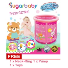 Model Sugar Baby Premium Baby Swimming Pool Baby Spa Fresh Garden Pink Terbaru