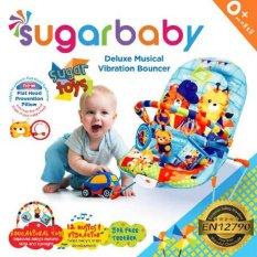 Top 10 Sugar Baby Sugar Toys Deluxe Musical Vibration Bouncer Ayunan Bayi Biru Online