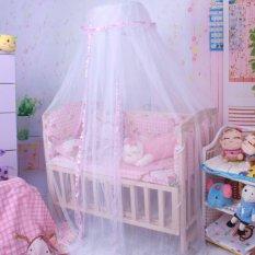 Ulasan Mengenai Musim Hot Bayi Kelambu Tempat Tidur Balita Crib Kanopi Kelambu Putih B*B* Dome Intl