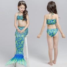 Summer Kids Girls Mermaid Tail Swimmable Bikini Bathing Set Swimwear Swim Costume Beach Wear