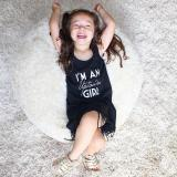 Review Musim Panas Bayi Balita Anak Gadis Without Lengan Gaun Rumbai Hitam Internasional Oem