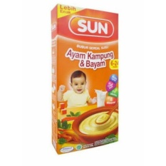 Sun Bubur Sereal Susu Usia 6-24 Bulan - Ayam Kampung & Bayam - 120gr