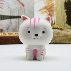 SunnyShopCartoon Cat Squishy Slow Rising Phone Straps Cute Kitten Soft Squeeze Bread Charms Scented Kids Toy