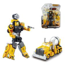 SunnyShopTransformation Car Robot Model Alloy Construction Vehicles Manual Operated Style:Mixer Truck