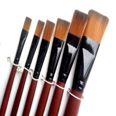 6 Buah Kuas Cat Warna-warna-warni Seni Set Untuk Cat . Source · Sunshop 6 Pcs Art Paint Brush Colorful Set Untuk Anak-anak Cat Air, Nail