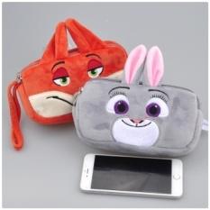 Super Cute Kartun Baru Zootopia Rabbit Fox Plush Toy Judy Nick Kid Pena Pensil TAS Sekolah Plush Purse BABY Animal Plush Doll Hadiah-Intl