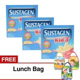 Review Sustagen Kid 3 Susu Pertumbuhan Madu 350 Gr Isi 3 Kotak Free Lunch Bag