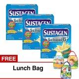 Harga Sustagen Sch**l 6 Susu Pertumbuhan Madu 350 Gr Isi 3 Kotak Free Lunch Bag Sustagen Ori