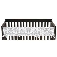 Sweet Jojo Desain Bayi Laki-laki atau Perempuan Unisex Penjaga Gerbang Depan Panjang Penutup Gigi Protector Crib Wrap untuk Pink dan Grey Elizabeth Collection-Intl