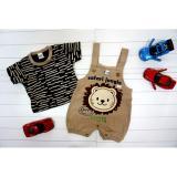 Spesifikasi Sweetenyou Jumpsuit Baby Safari Lion Coklat Sweetenyou